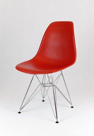 SK Design KR012 Dark Orange Chair Chrome