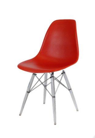 SK Design KR012 Dark Orange Chair Clear