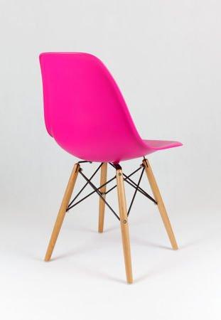 SK Design KR012 Dark Pink Chair Beech