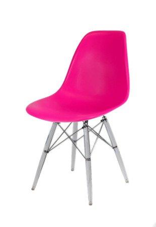 SK Design KR012 Dark Pink Chair Clear legs