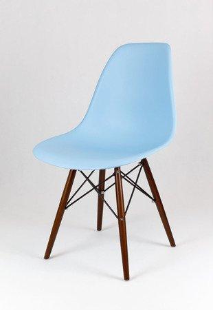SK Design KR012 Light Blue Chair Wenge Legs