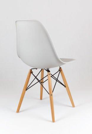 SK Design KR012 Light Grey Chair Beech