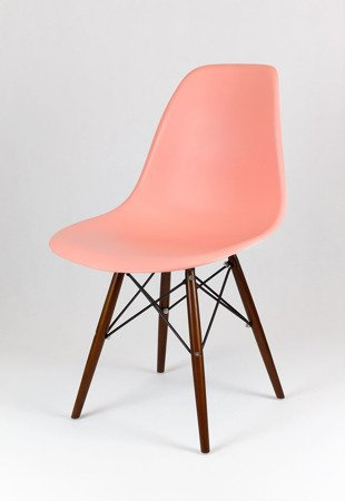 SK Design KR012 Light Pink Chair, Wenge legs