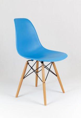 SK Design KR012 Ocean Blue Chair, Beech legs