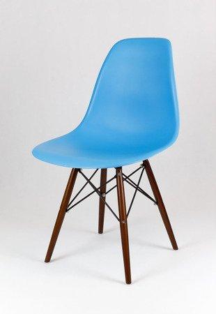SK Design KR012 Ocean Blue Chair, Wenge legs