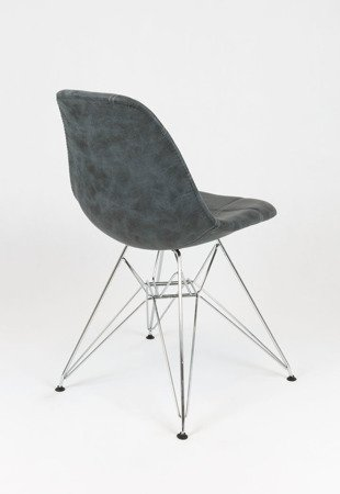 SK Design KR012 Upholstered Chair Eko, Chrome legs
