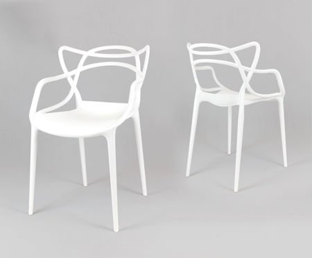 SK Design KR013 White Chair