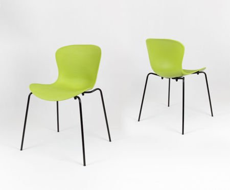 SK Design KR019 Green Chair on Metal Frame