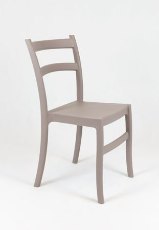 SK Design KR032 Mild Grey Polypropylene Chair Retro