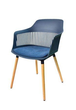 SK Design KR064 DARK BLUE CHAIR + CUSHION SEAT