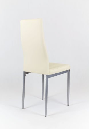 SK Design KS001 Cream Synthetic Leather Chairon a Painted Frame