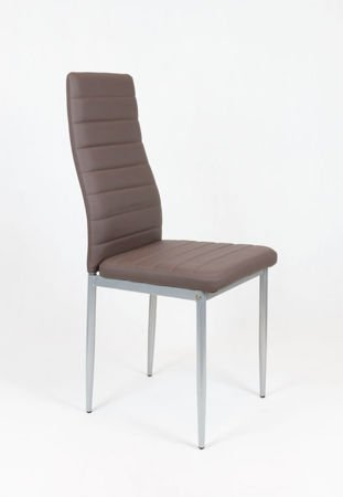 SK Design KS001 Light Grey Synthetic Leather Chair on a Grey Frame