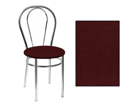 SKN Mars Brown Chair, Chrome Legs