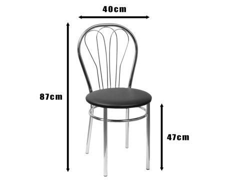 SKN Jowisz, Light Grey Chair, Chrome legs