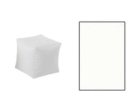 SKN White Cubes Pouf
