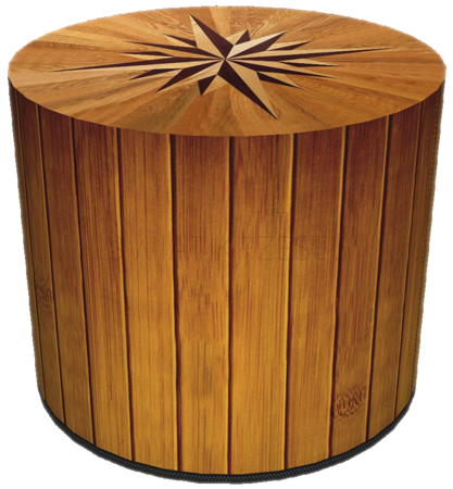 SKP BERTONI DECORATIVE POUF COMPASS HD