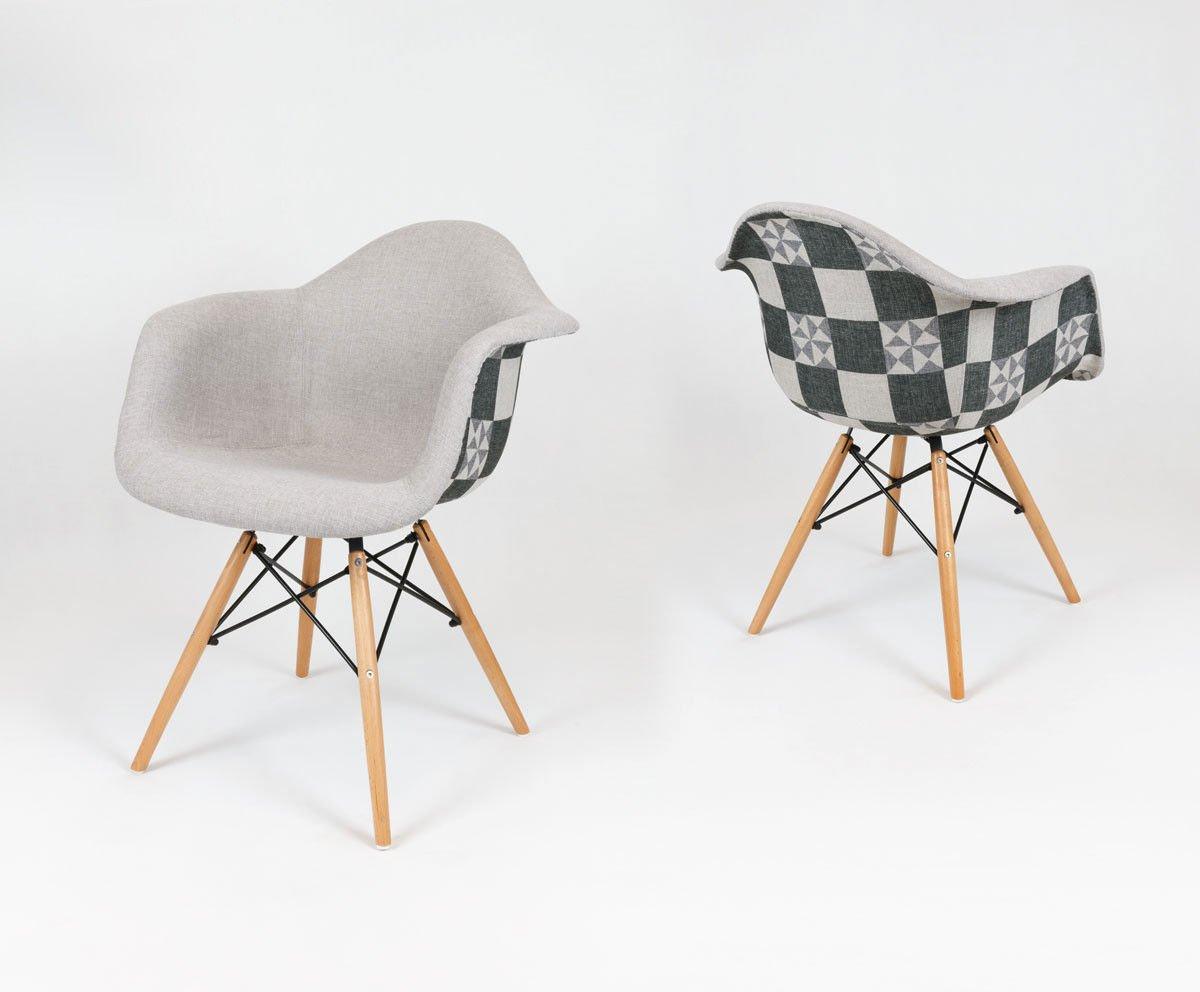 sk design kr012f tkrsz polster seesel kariert buche tkrsz holz buche angebot st hlen. Black Bedroom Furniture Sets. Home Design Ideas