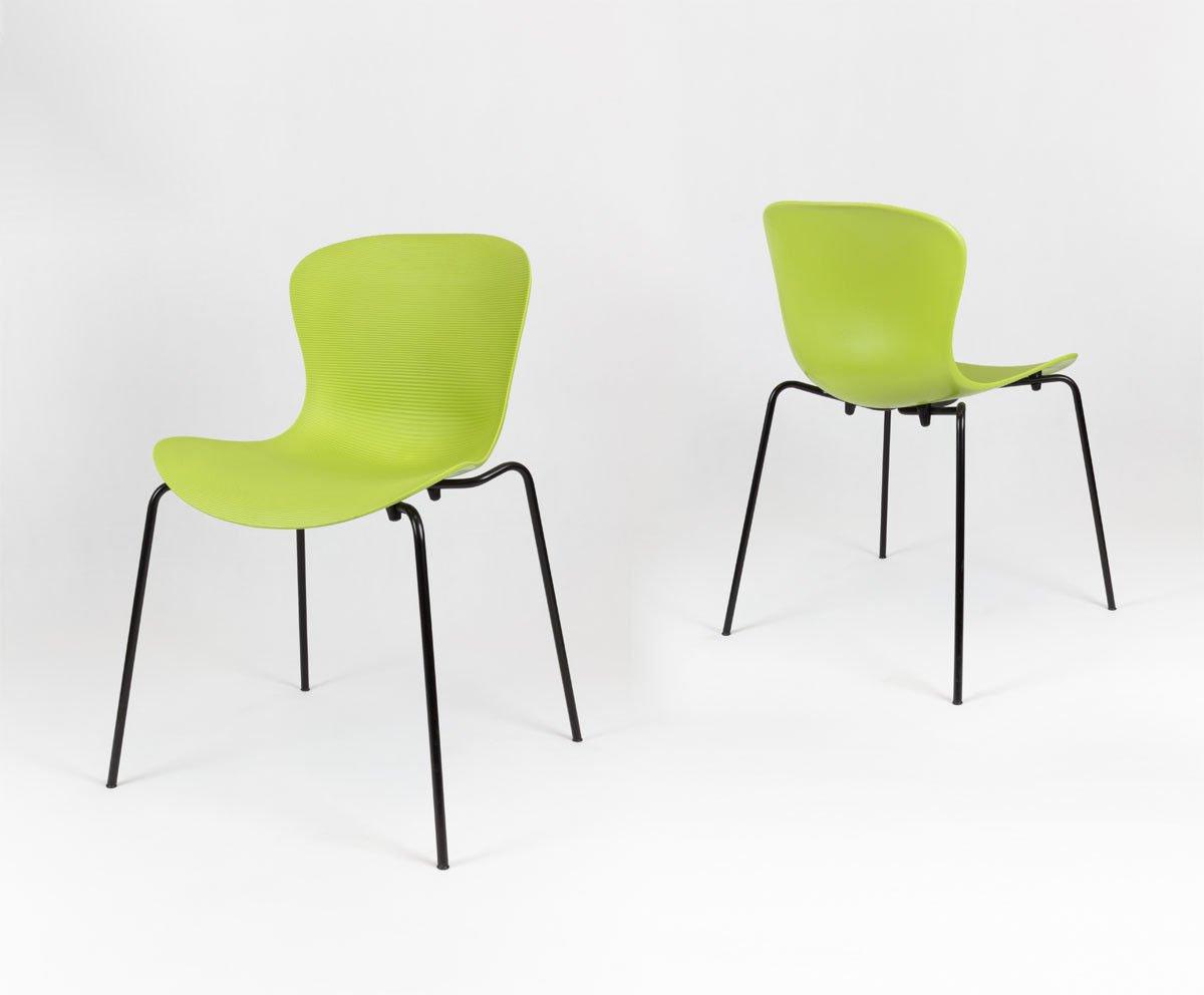 SK Design KR019 Grun Stuhl mit Metallgestell Grün   ANGEBOT ...