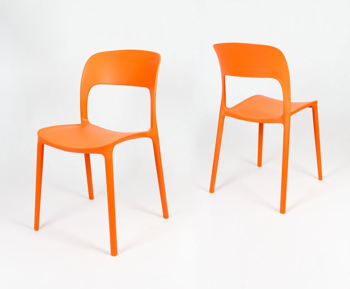 Sk design kr022 orange stuhl aus polypropylen orange for Design stuhl orange