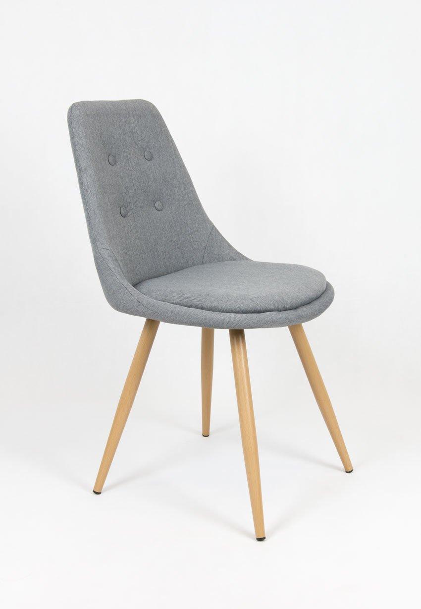 Sk design kr051 grau stuhl mit kissen grau angebot for Designer stuhl grau