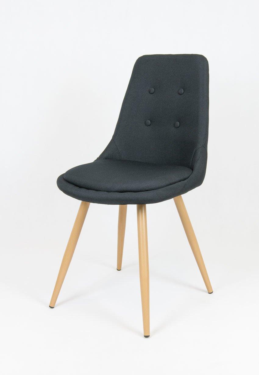 Sk design kr051 schwarz stuhl mit kissen schwarz angebot for Design stuhl schwarz