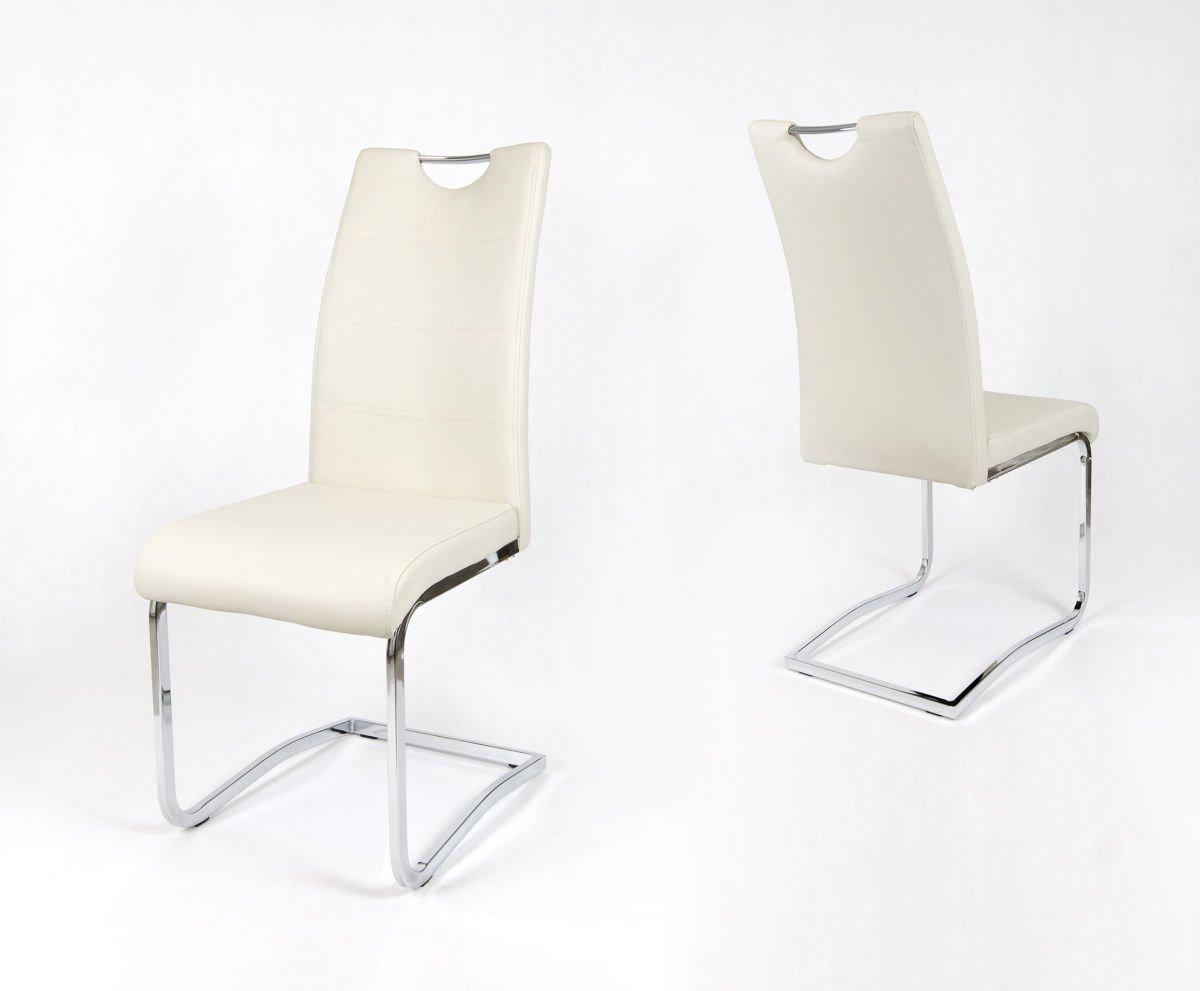 Sk Design Ks030 Creme Kunsleder Stuhl Mit Chromgestell Sahnig Angebot Stuhlen Salon Esszimmer Kuche Stuhle Fur Das Wohnzimmer Salon Esszimmer Kuche Stuhle Fur Das