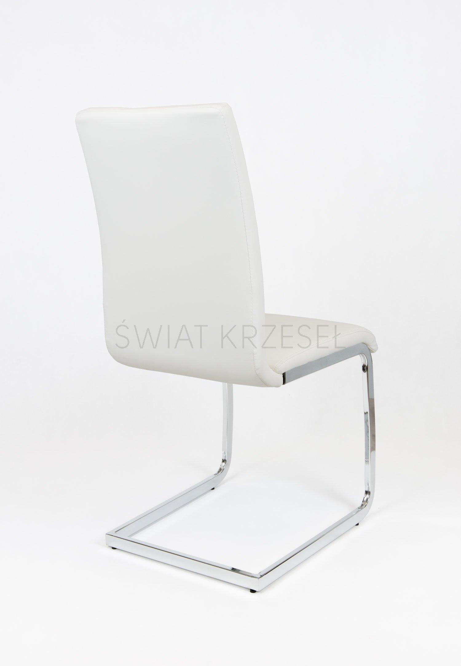 sk design ks038 weiss kunsleder stuhl mit chrome weiss angebot st hlen salon esszimmer. Black Bedroom Furniture Sets. Home Design Ideas