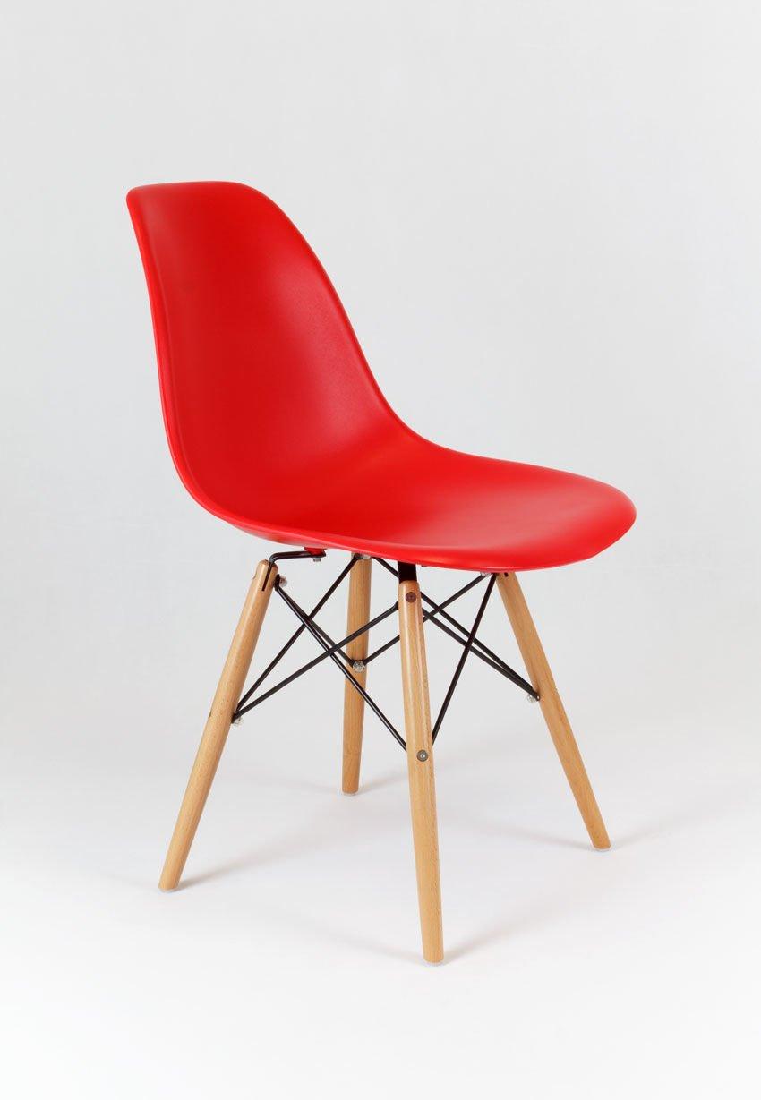 Sk design kr012 rot stuhl buche rot holz buche angebot for Design stuhl rot