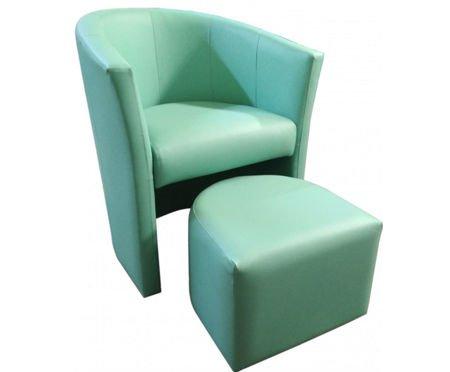 Aquamarin CAMPARI Sessel mit Fußstütze