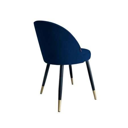 Blau gepolsterter Stuhl CENTAUR Material MG-16 mit goldenen Bein
