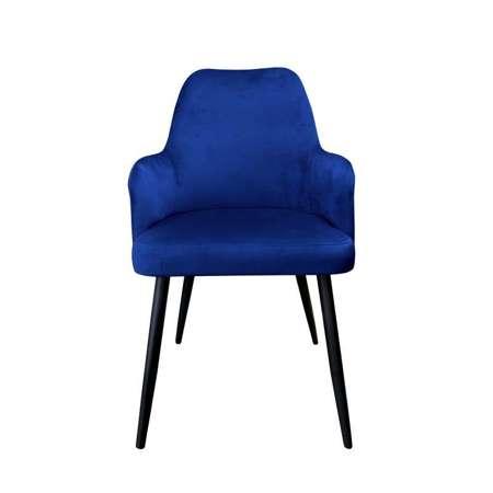 Blau gepolsterter Stuhl PEGAZ Material MG-16