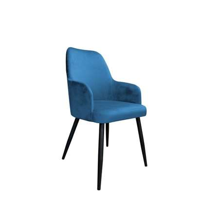 Blau gepolsterter Stuhl PEGAZ Material MG-33