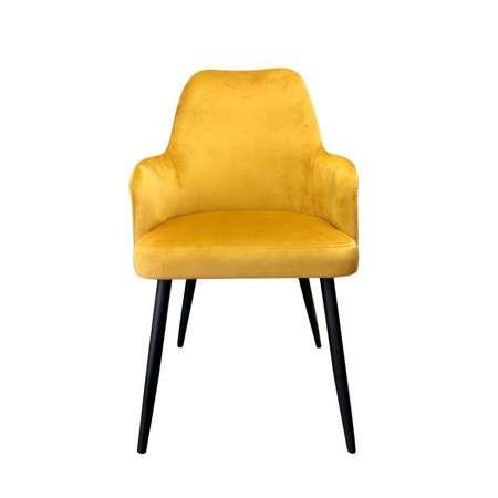 Gelb gepolsterter Stuhl PEGAZ Material MG-15