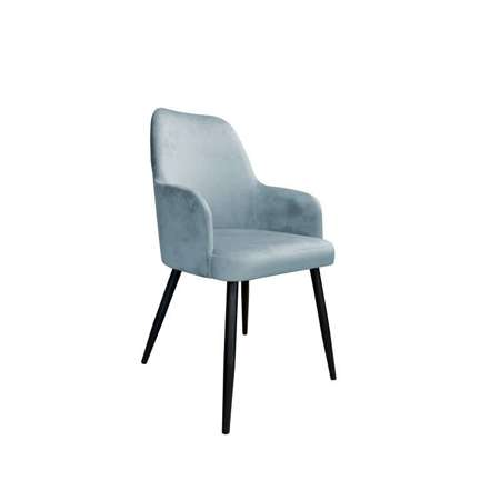 Grau-blau gepolsterter Stuhl PEGAZ Material BL-06