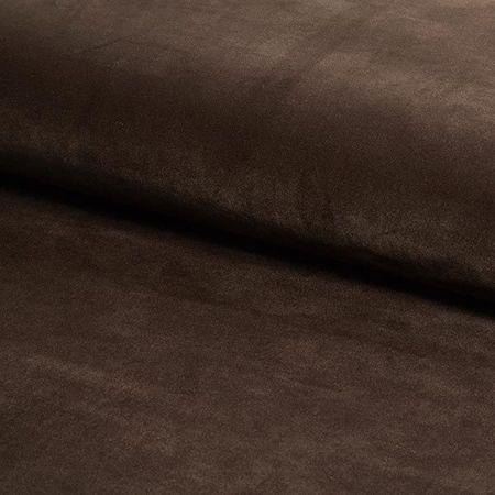 KALIPSO Stuhl dunkelbraun Material MG-05 mit goldenen Beinen