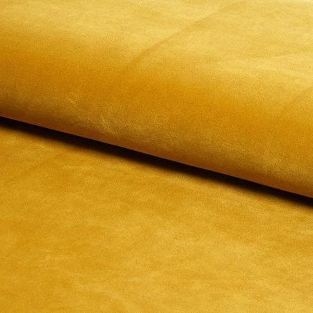 KALIPSO Stuhl gelb Senf Material MG-15 mit goldenen Beinen