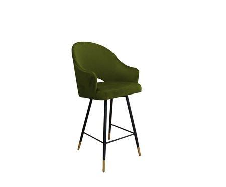 Oliv gepolsterter Sessel DIUNA Sessel Material BL-75 mit goldenem Bein