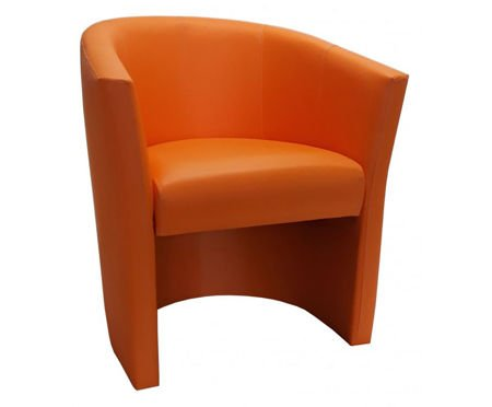 Orangefarbener CAMPARI Sessel