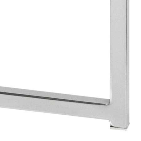 Quadratischer Tisch Cross Glas / Chrom