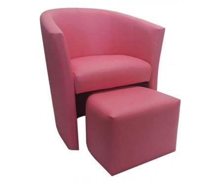 Rosa CAMPARI Sessel mit Fußstütze