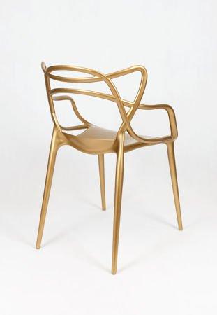 SK Design KR013 Gold Stuhl