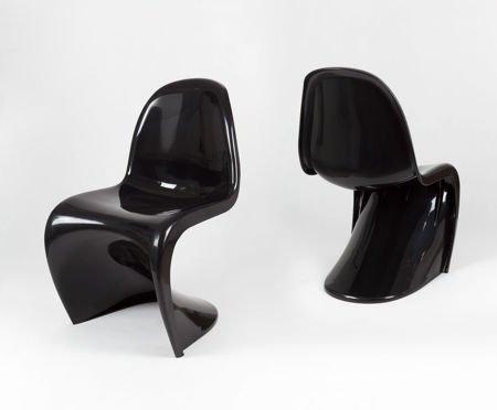 SK Design KR017 Schwarz Stuhl Glanz