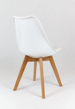 SK Design KR020 Weiss Stuhl mit Polypropylen und Kissen