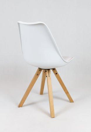 SK Design KR020A Weiss Stuhl mit Polypropylen und Kissen