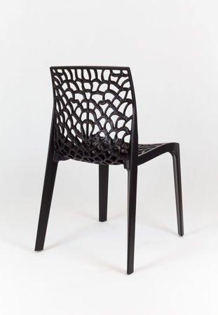 SK Design KR026 Schwarz Stuhl aus Streckpolypropylen Garten
