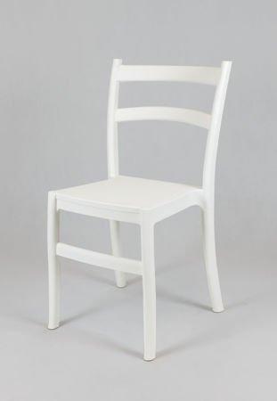 SK Design KR032 Weiss Stuhl aus Polypropylen Retro