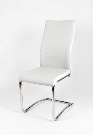 SK DESIGN KS020 HELLGRAU Kunsleder Stuhl mit Chromgestell