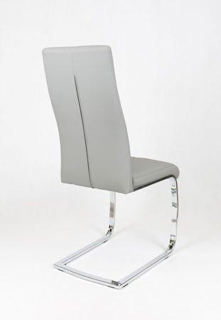 SK DESIGN KS028 Kunsleder Stuhl mit Chromgestell