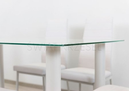 SK DESIGN ST10 WEISS GLAS TABELLE 140 x 75 cm