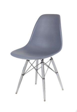 SK Design KR012 Dunkelgrau Stuhl Clear
